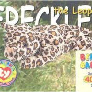 TY Beanie Babies Collection Freckles the Leopard